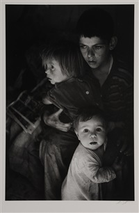 trailer camp children by ansel adams