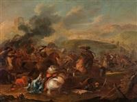 paar reitergefechte zwischen christlichen und osmanischen soldaten by august querfurt
