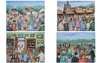 killarney village, the lammas fair, the antique sale & before the race by gladys maccabe