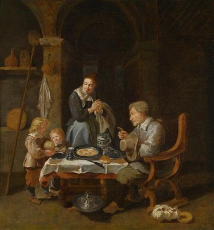 eine familie bei der mahlzeit by david ryckaert iii