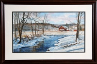 creekside farm in winter by michael davidoff