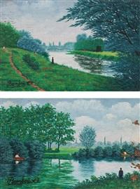 après-midi d'été and le sentier (2 works) by camille bombois