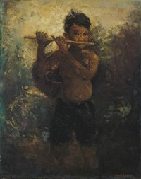 the flautist by romualdo locatelli
