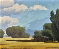 sparse landscape scene of carmel vally, ca by arthur hill gilbert