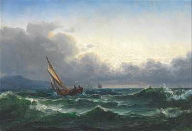 båter langs kysten by edvard skari