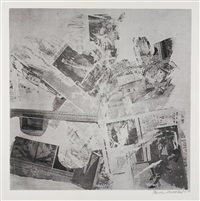 features from currents: four plates (4 works) by robert rauschenberg