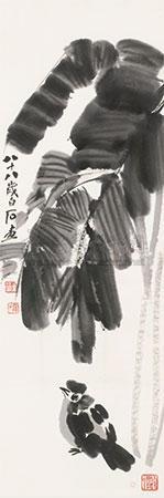 芭蕉鹌鹑 by qi baishi