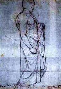 figure study of phidias in the louvre by louis a. f. (jean-louis) janmot