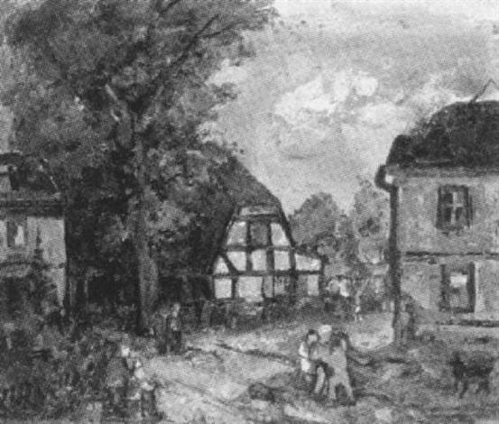 alte vorstadthäuser in stralsund by heinrich lietz