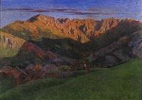 paesaggio montano by achille tominetti