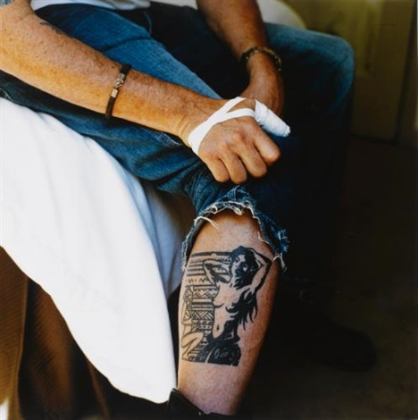 untitled leg of michael madsen by sam taylor wood