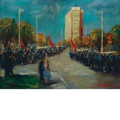 may day parade by william gropper