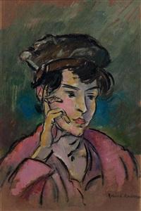 porträt einer dame mit hut by robin christian andersen