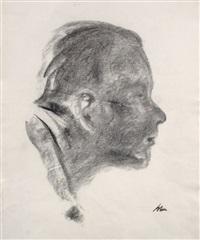 herrenkopf im profil nach rechts by karl lohse