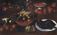 natura morta con frutta e verdura by bartolomeo arbotori
