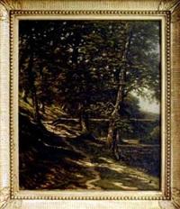 paysage de sous-bois by louis humbert