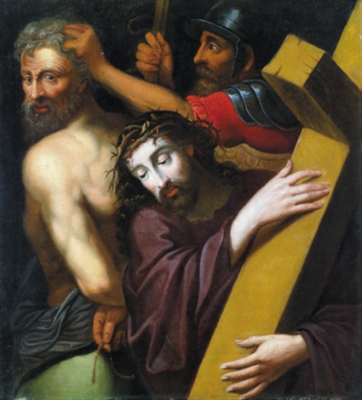 die kreuztragung christi cristo portacroce by michiel coxie the elder