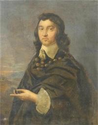 portrait of richard pryce (+ portrait of rosamond pryce; 2 works) by william dobson