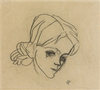 mädchenkopf (head of a girl) by oskar kokoschka