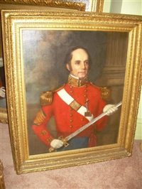 portrait of a military officer (colonel page ?) by oswald freeland
