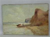 sur la plage à marée basse by godchaux