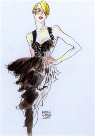Drawing of Cocktail Dress