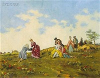 descending from the coach (+ a day in the country; 2 works) by alexander brantingham simpson