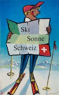 ski sonne schweiz (by p. mourmont) by posters: sports