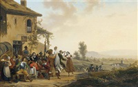 merrymaking at the inn by jean alphonse roehn
