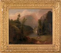 landscape with a hunter and game by alvan fisher