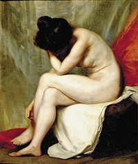 seated nude by hermann albrecht-servesta
