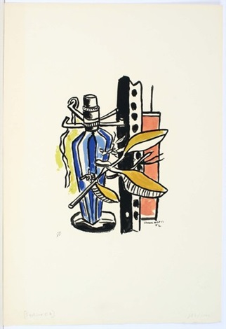 bouteille bleue by fernand léger
