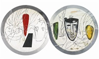 untitled (2 works) by mimmo paladino