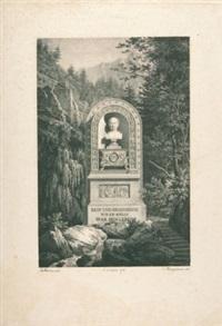 das könig-max-denkmal von j. metivier in kreuth by carl friedrich heinzmann