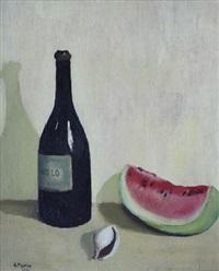 bottiglia con anguria e conchiglia by guido peyron