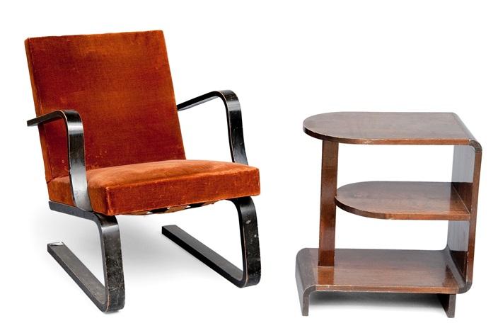 armchair with table set of 2 by maija heikinheimo