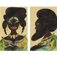 untitled (pair) by chris ofili