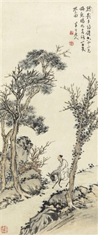 夕阳驴影图 (a donkey rider) by chen banding