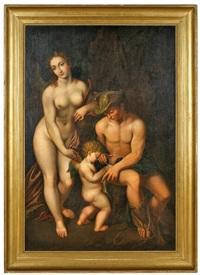venus mit merkur und cupido by correggio