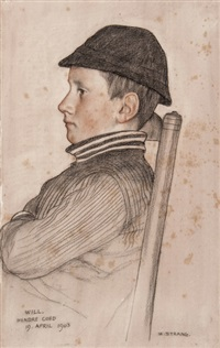 portraits of will hodson (laurence's son) (2 works) by william strang
