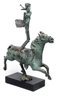 malabarista a caballo by oscar estruga