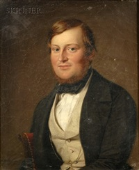 portrait of a seated gentleman by adolf henning