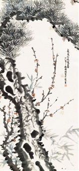 pine tree, bamboo and plum blossom by hengy jiing