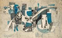composicion en azules by pierre de berroeta