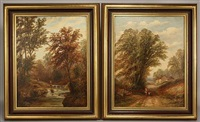 pair of landscapes by joseph mellor