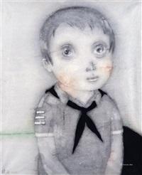 男孩 镜框 设色纸本 by zeng jianyong