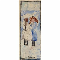 two children by maurice brazil prendergast