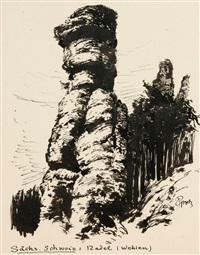 landschaftsdarstellungen der sächsischen schweiz (8 works) by paul groß