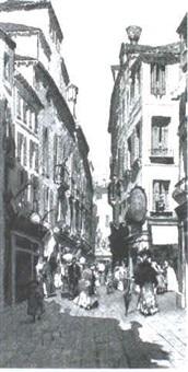 venice street scene by michel bouquet