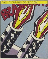as i opened fire poster by roy lichtenstein